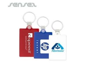 Cheap Rectangular Plastic Keyring