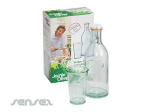 Jamie Oliver Water Bottle/Glass Set