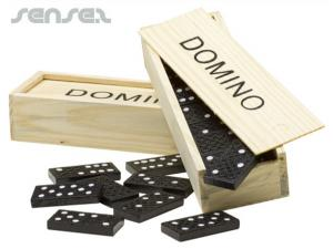 Domino Sets in Wooden Boxes