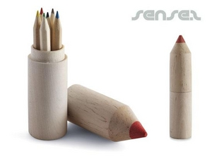 Colour Pencil Sets in Wooden Pencil Holders