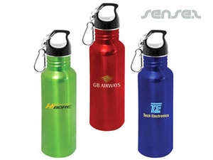 Stainless Steel Water Bottles (Coloured & BPA Free)