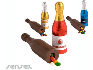 Schokoladen-Champagnerflaschen