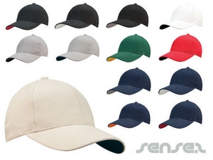 Contrast Colour Baseball Caps