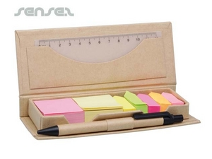 Eco Desk-Top-Briefpapier-Sets mit Haftnotizen