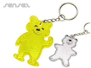 Reflective Teddy Bear Keyring