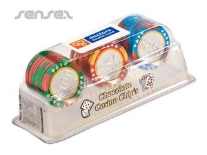 Schokolade Poker Chips Set