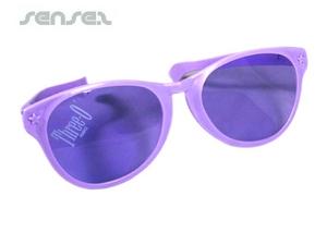 Übergroße Sonnenbrillen Clown (29 cm)