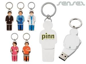 USB People Keyrings (1GB)