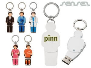 USB People Keyrings (2GB)