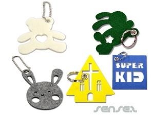 Benutzerdefinierte förmigen Filz-Schlüsselring