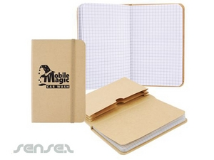 Recycling-Reisende Notebook mit Datei