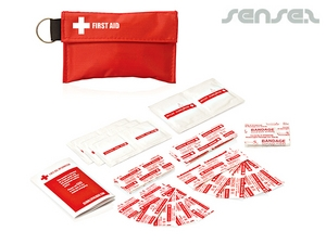 Pouch Keyring First Aid Kits (34pc)