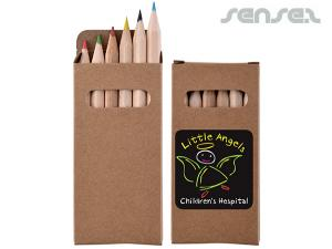 Mini Colour Pencil Sets in Cardboard Boxes