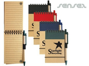 Cardboard Notepads with Pen