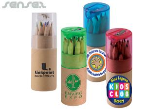 Mini Colour Pencil Sets in Cardboard Tubes
