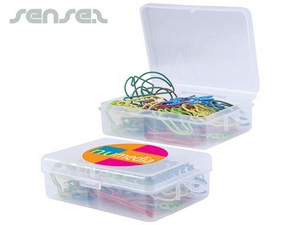 Assorted Paper Clips in Clear Boxes