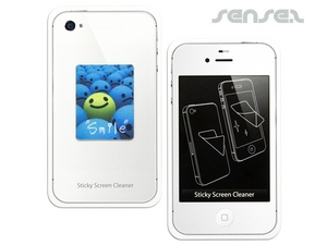 Microfaser iPhone oder iPad Aufkleber