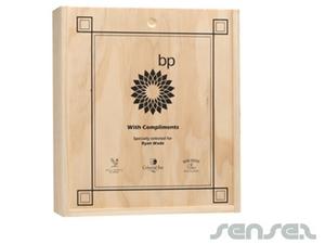 Dreibettzimmer Wein Holz-Geschenkbox