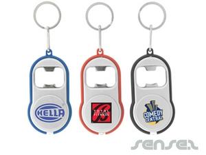 Curvey Flaschenöffner Schlüsselanhänger-Taschenlampe
