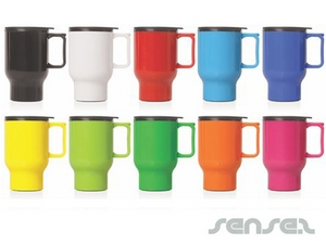 Double Walled Plastic Thermo Travel Mugs (560ml)