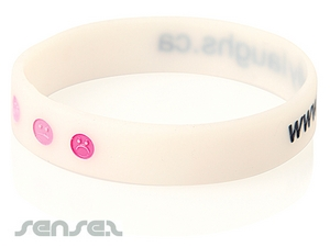 Silicone Wristbands Embossed with Colour