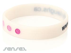 Silikon-Armbänder Geprägte mit Farbe