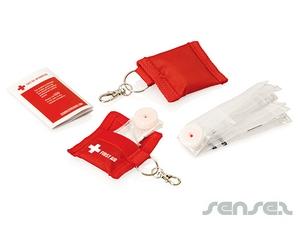 CPR-Maske auf Schlüsselanhänger