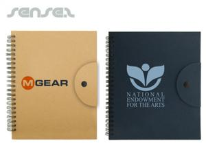 Eco Notebook with Sticky Notes and Pen Set