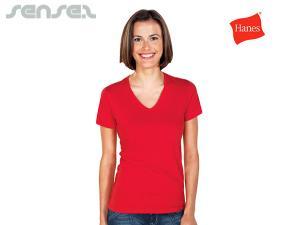 Damen V-Neck T-Shirts