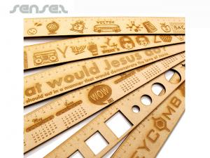 Wooden ECO Ruler (50cm)