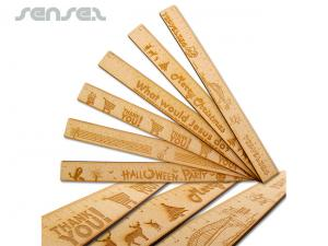 Wooden ECO Ruler (30cm)