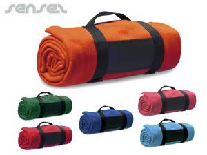 Farbige Fleece-Decken