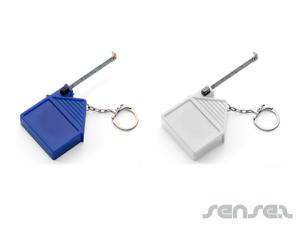 House Measuring Tape Keyrings