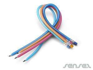 Flexi-Bleistifte mit Radiergummi