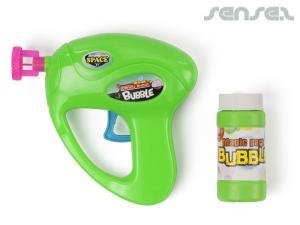 Bubble-Guns mit Flüssigkeit