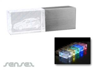 LED Glass Block USB Sticks (2GB)
