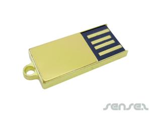 Slim Gold Micro Flash Drive (1GB)