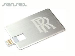 Flat Metal USB Cards (1GB)