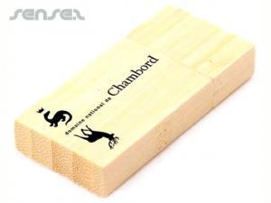 Rechteckige Holz-USB-Sticks (2 GB)