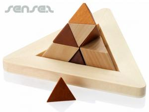 Holz-Puzzle-Pyramide