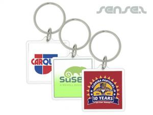 Square Acrylic Key Chains