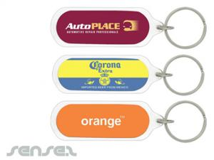 Oval Acryl-Schlüsselanhänger