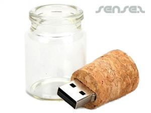 Glass Jar USB Sticks (1GB)