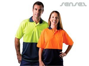 Safety Fluoro Short Sleeve Polos