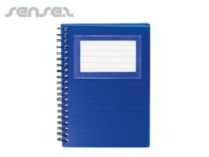 Notepad with Business Card Window