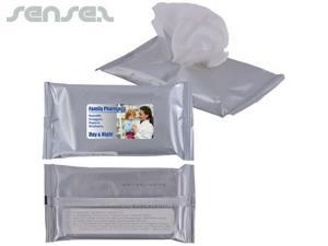 Antibakterielle Reinigungstücher in Pouch