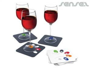 Wine Glass Marker Coasters (Sets of 4)
