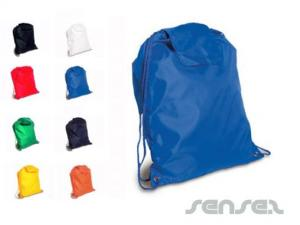 Nylon Drawstring Bags with Flap