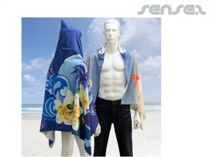 Hooded Full Colour Microfiber Beach Towels