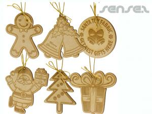 Wooden MDF Christmas Ornaments